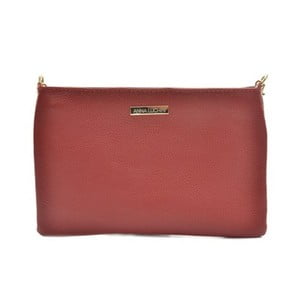 Červená kožená kabelka Anna Luchini Miullo