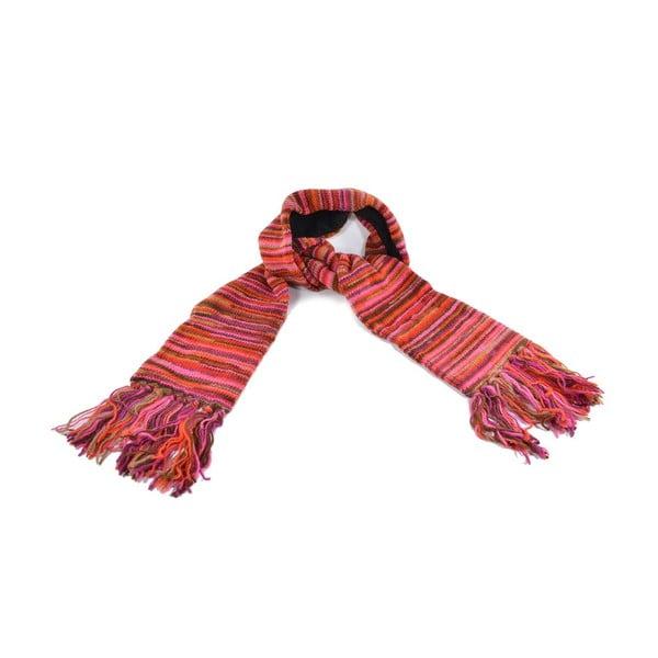 Vlnený šál s flisovou podšívkou Spacedye Red