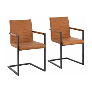 Sada 2 hnedých jedálenských  stoličiek s opierkami Støraa Sandra