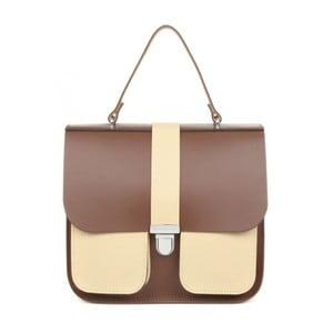 Hnedá kožená kabelka Brix + Bailey Onslow