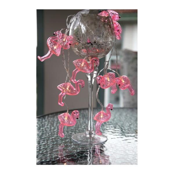 Svetelná LED reťaz Best Season Go Flamingo, 10 svetielok