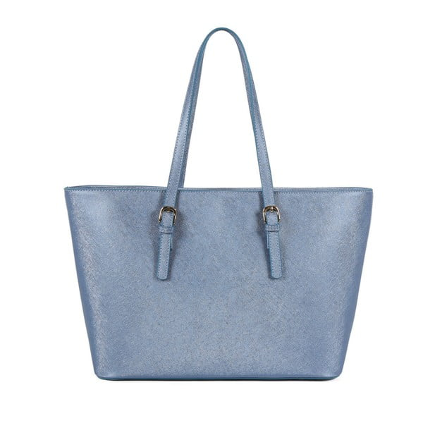 Modrá kabelka z eko kože Beverly Hills Polo Club Francesca