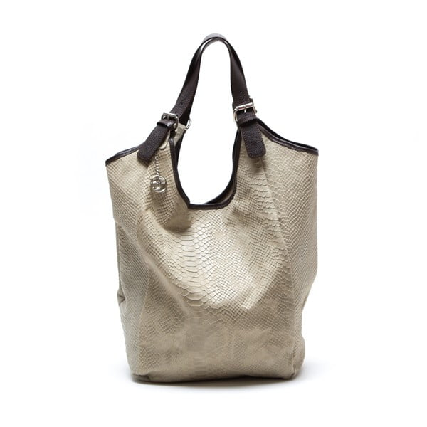 Kožená kabelka Clasa, béžová