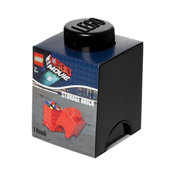 Čierny úložný boxík LEGO®