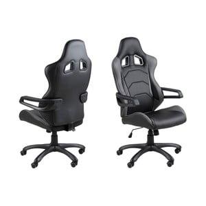 Čierna kancelárska stolička na kolieskach Actona Thorium