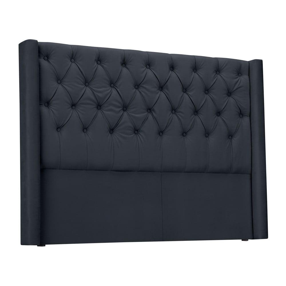 Ocelovosivé čelo postele Windsor & Co Sofas Queen, 176 × 120 cm