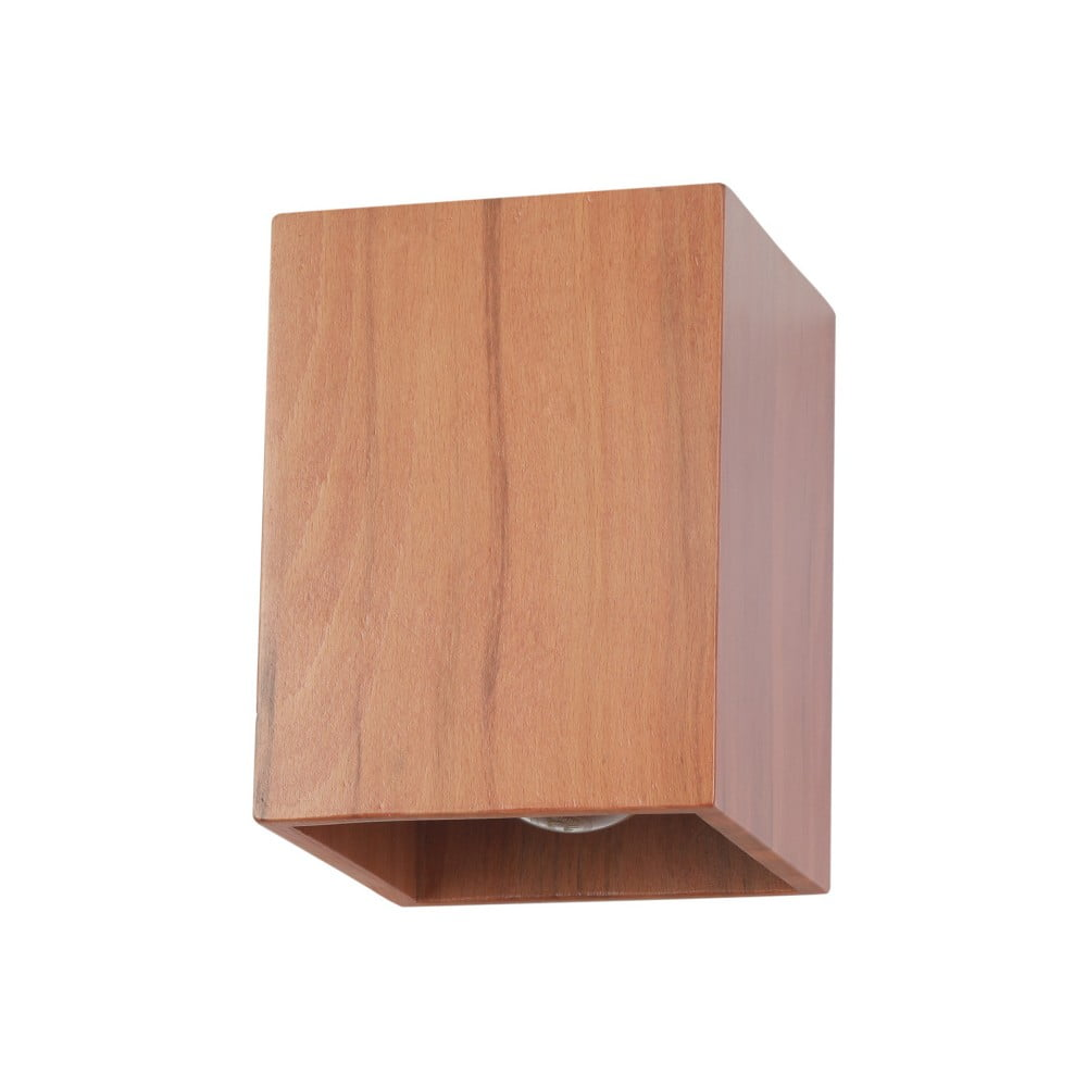 Nástenné svietidlo z habrového dreva Masivworks Cube