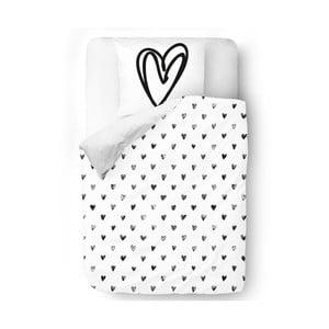 Obliečky White Heart, 140x200 cm