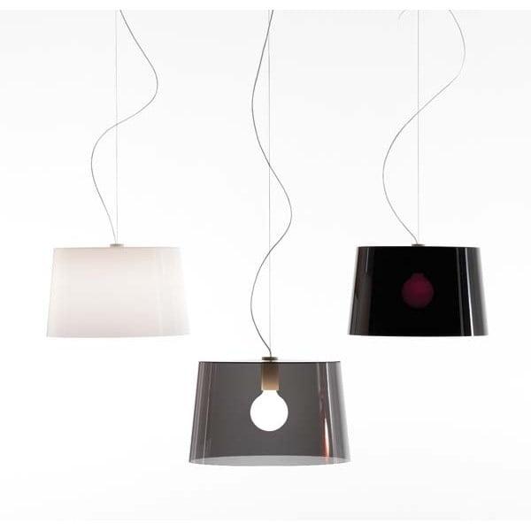 Transparentné dymové závesné svetlo Pedrali L001S/B