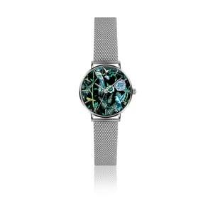 Dámske hodinky s remienkom z antikoro ocele v striebornej farbe Emily Westwood Garden