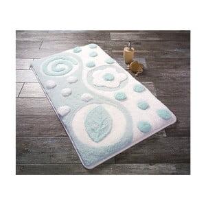 Modro-biela predložka do kúpeľne Confetti Bathmats Mindos, 60 x 100 cm