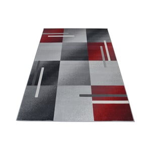 Červeno-sivý  koberec Webtappeti Modern, 140 x 200 cm