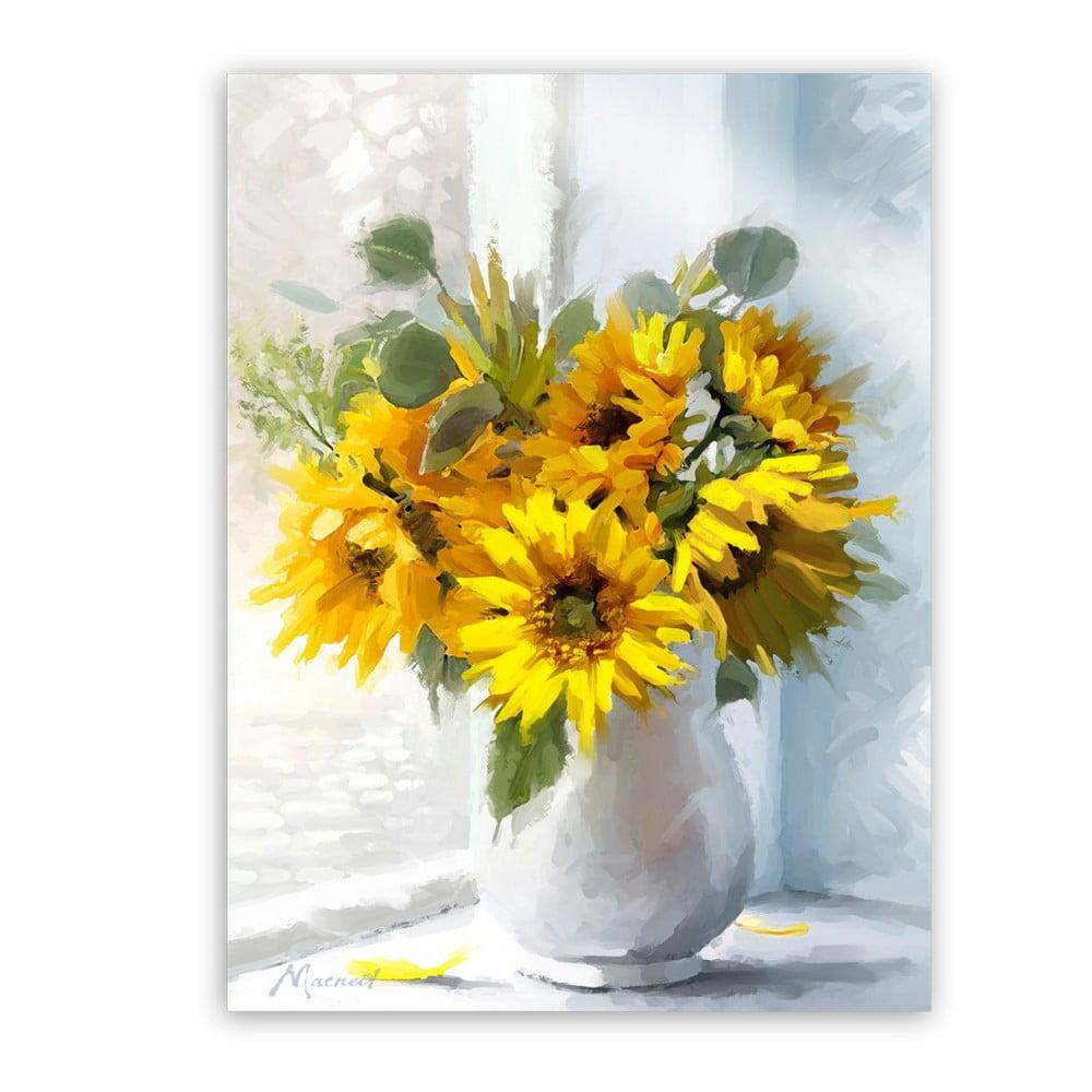 Obraz Styler Canvas Flowers Sunflowers, 60 × 80 cm