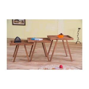Sada 3 stoličiek z palisandrového dreva SOB Margao Three