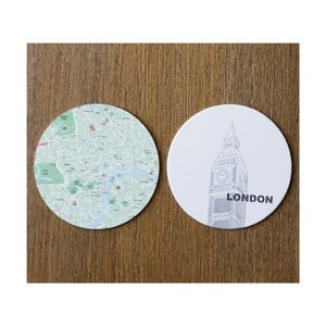 Sada 10 podložiek Design Ideas MapCoasters London