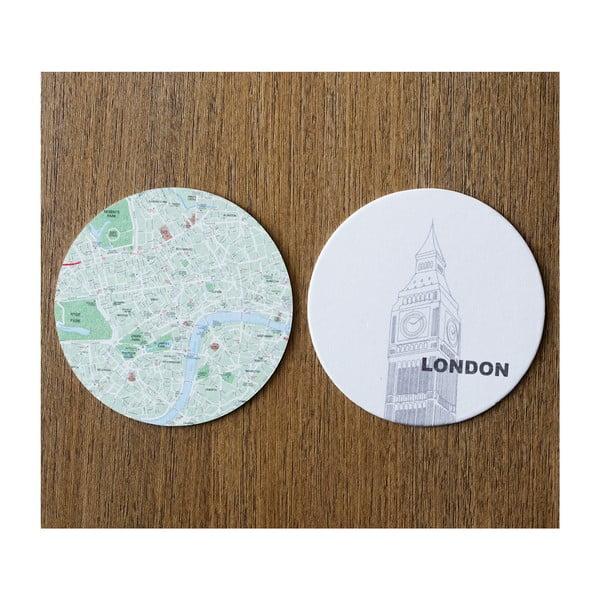 Sada 10 podložiek Design Ideas MapCoasters London
