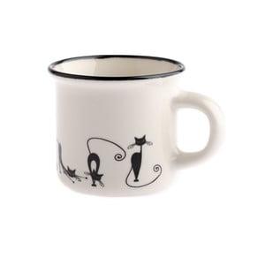 Porcelánový hrnček Dakls Cats Emily, 75 ml