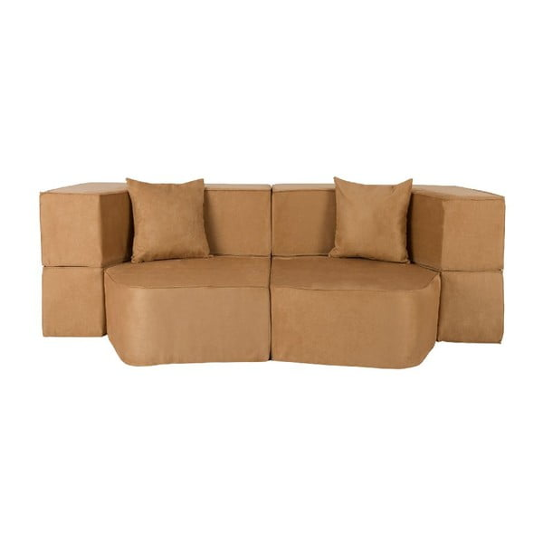Rozkladacia multifunkčná pohovka Sofa&Bed, hnedá