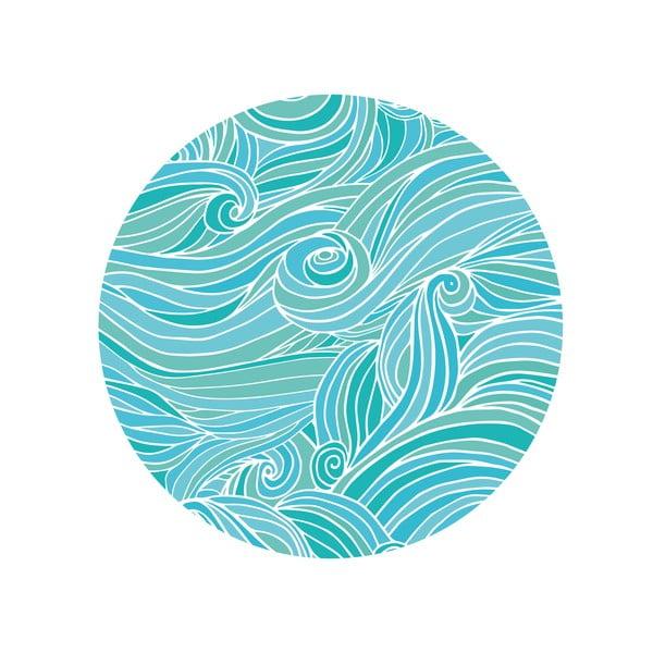 Sada 2 odkladacích stolíkov Sea Waves, 35 cm + 49 cm