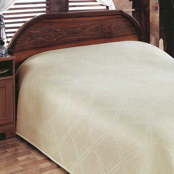 Prikrývka na posteľ Pike Cream, 200x230 cm