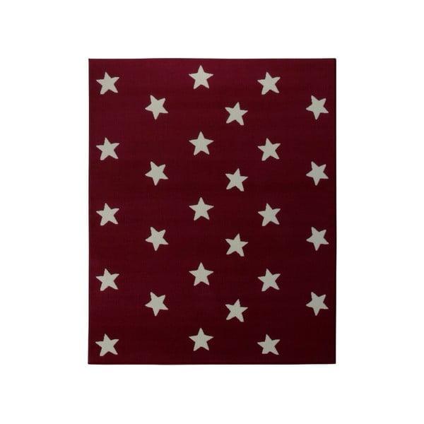 Koberec City & Mix - červené hvězdičky, 140x200 cm