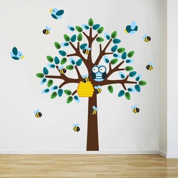Samolepka Strom a včielky, 70x50 cm