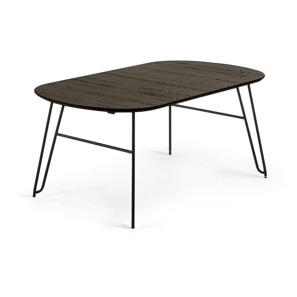 Čierny rozkladací jedálenský stôl La Forma Norfort, dĺžka 170/320 cm