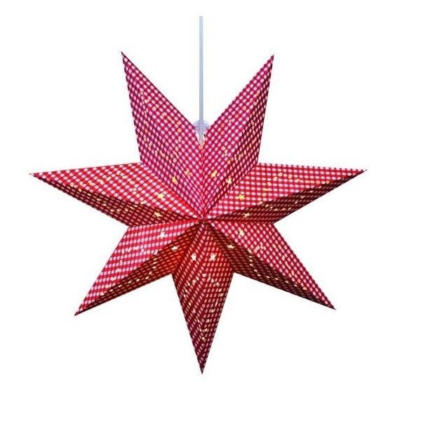 Svietiaca hviezda Gulli Red, 60 cm