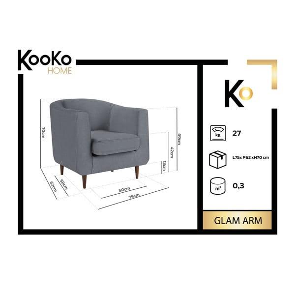 Tmavozelené kreslo Kooko Home Glam