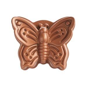 Forma na bábovku v tvare motýľa v medenej farbe Nordic Ware Butterfly, 2,1 l