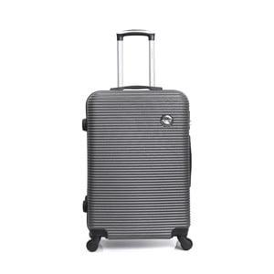 Sivý cestovný kufor na kolieskách BlueStar Porto, 39 l