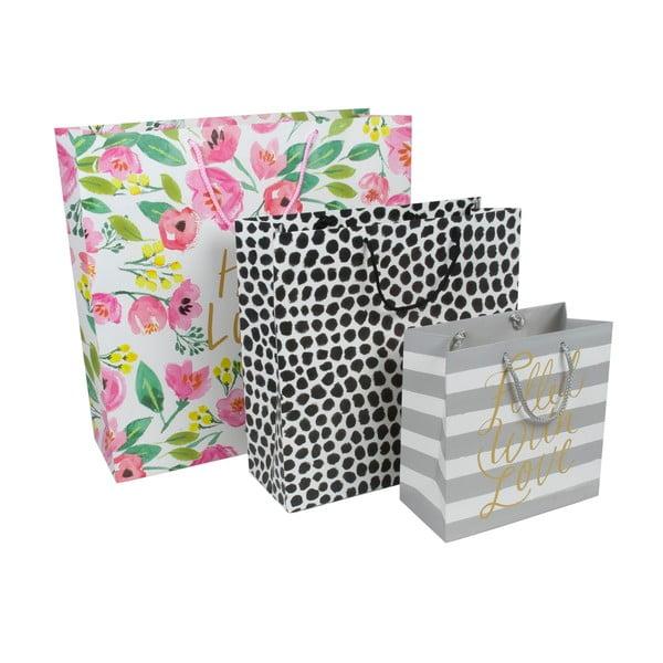Sada 3 darčekových tašiek Tri-Coastal Design Lovely Blooms
