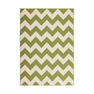 Zelený koberec Kayoom Maroc Wavo Grun, 160×230 cm