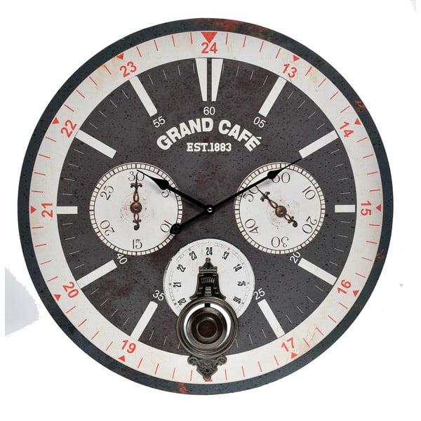 Nástenné hodiny InArt Ocular, čierne