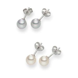 Sada 2 párov perlových náušníc Nova Pearls Copenhagen Défeibos