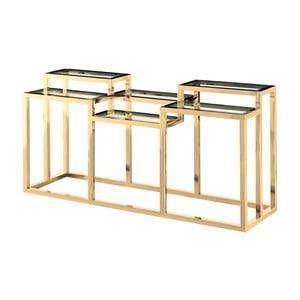 Antikoro konzolový stolík v zlatej farbe Artelore Alvar