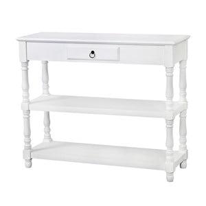 Biely konzolový stolík z topoľového dreva Livin Hill Latina