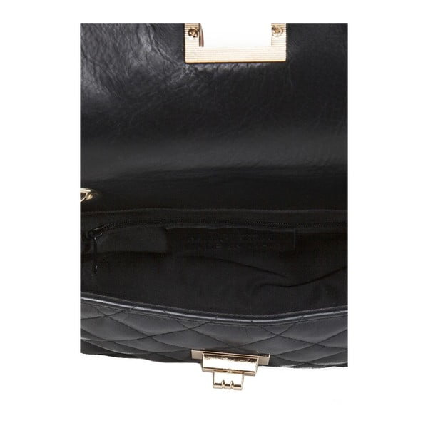 Čierna kožená kabelka Giulia Massari Phaedra