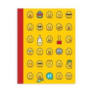 Žltý zošiť A5 v tvrdých doskách LEGO® Iconic