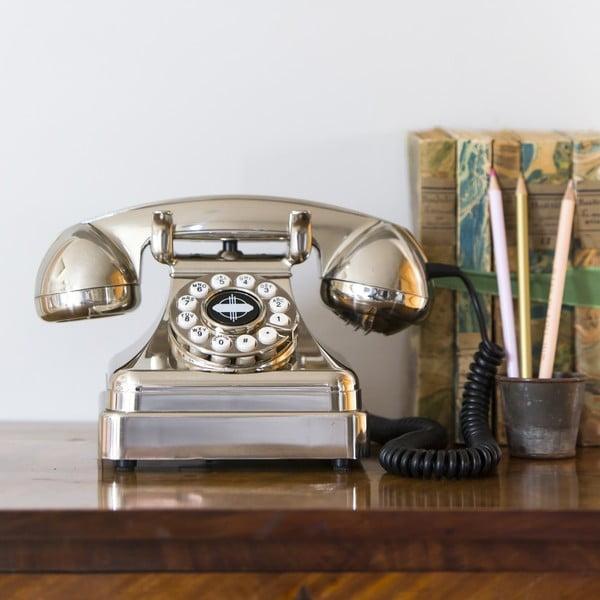 Retro funkčný telefón Chrome Lobby