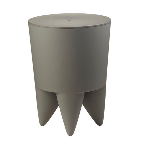 Univerzálny stolík/kôš/chladič na ľad Bubu, sivý