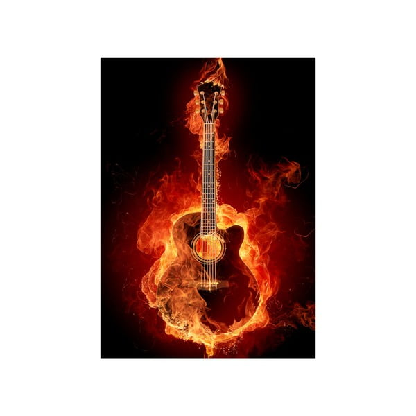 Obraz Gytara v ohni, 45x70 cm