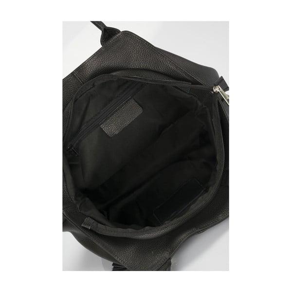 Kožená kabelka Italia 1076 Nero