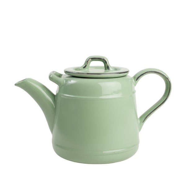 Zelená porcelánová čajová kanvica T&G Woodware Pride of Place, 1,5 l