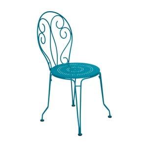 Tyrkysová kovová stolička Fermob Montmartre
