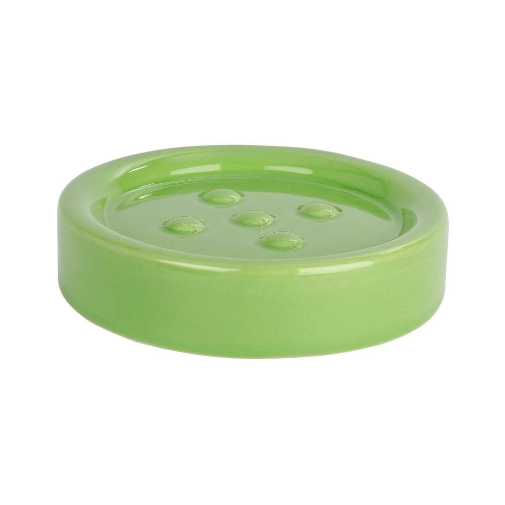 Zelená podložka pod mydlo Wenko Polaris Green