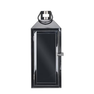 Čierny kovový lampáš s pútkom Villa Collection, 35 cm