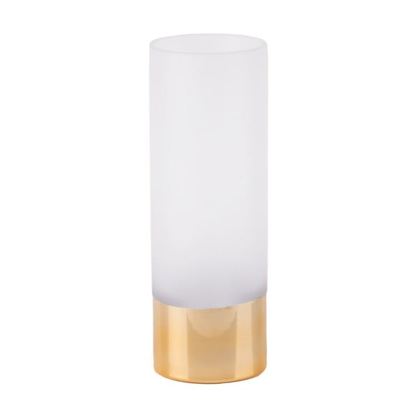 Bielo-zlatá sklenená váza PT LIVING Glamour, výška 25 cm