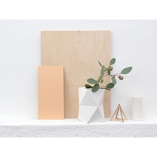 Skladacie origami váza SNUG.Low White