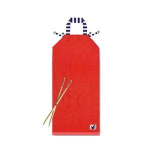 Červené plážové ležadlo Origama Blue Stripes